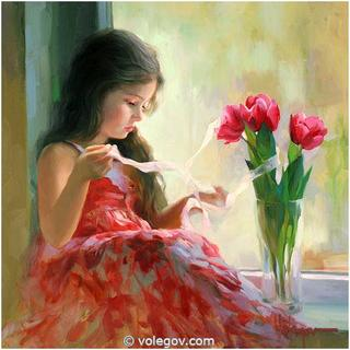 Детки на картинах Владимира Волегова