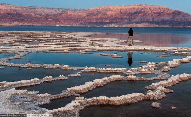 Солончаки Мертвого моря. Израиль. Фото