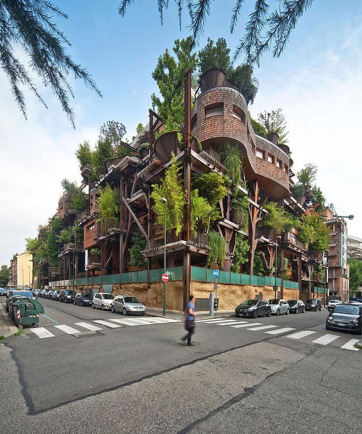 Необычное здание в Турине (Италия) архитектура, дизайн, дом, интерьер, строительство, фасад