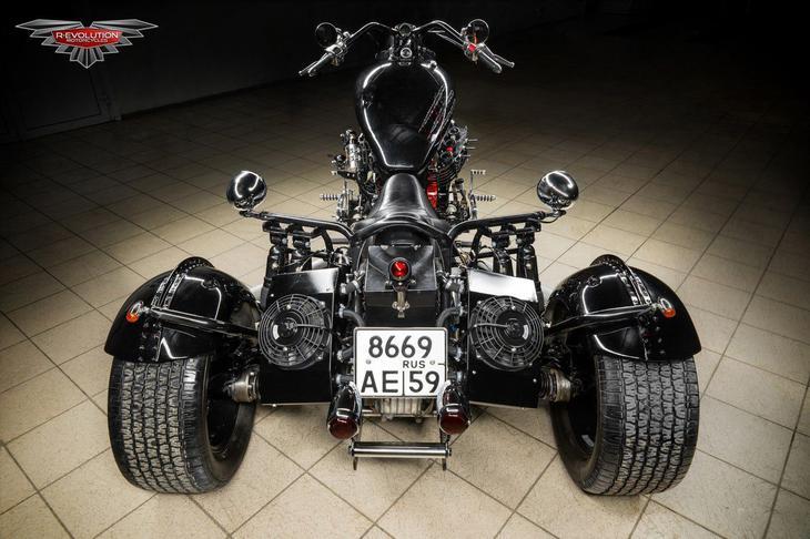 """Трайк """"Черный медведь"""" авто, кастом, мото, мотоцикл, трайк"""