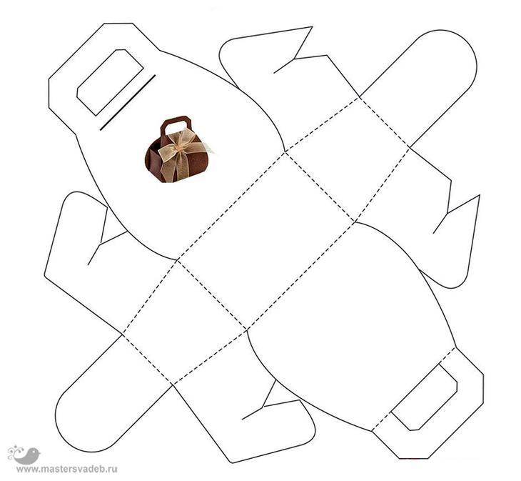 Распечатать как сделать из бумаги подарок 32
