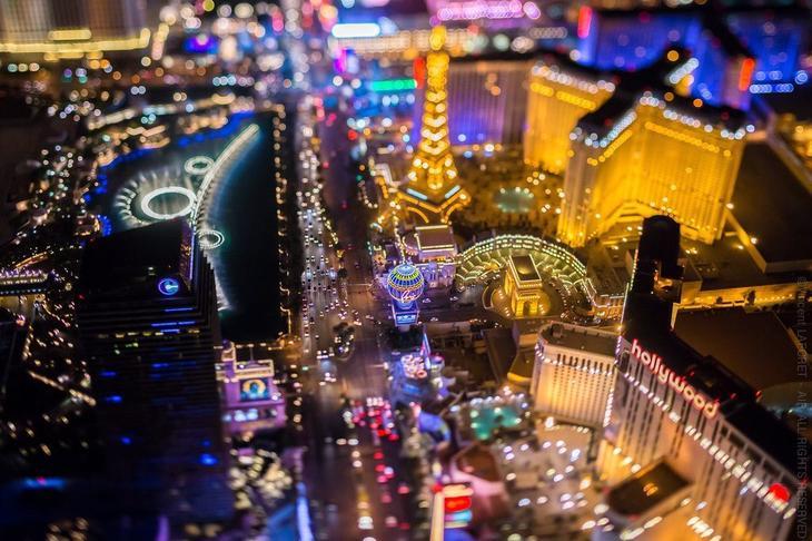 Ночной Лас-Вегас с высоты-1
