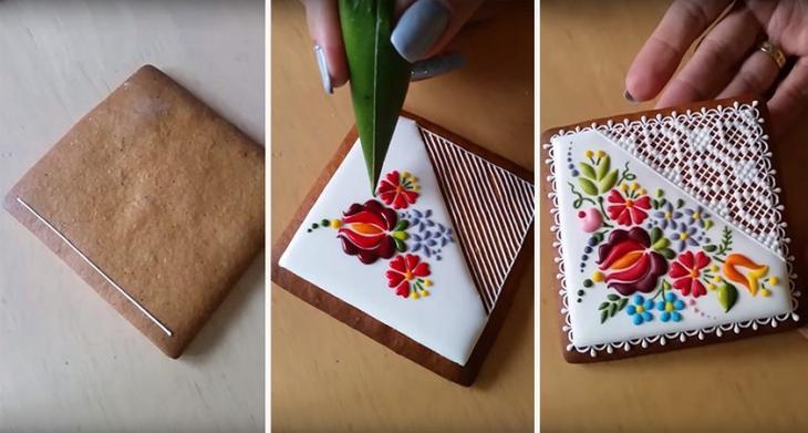 Венгерская художница и шеф-кондитер создаёт шедевры искусства из обычного печенья (13 фото)