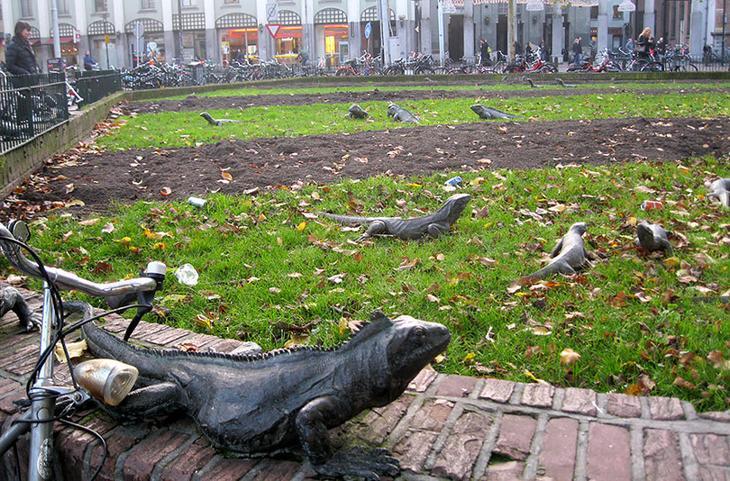Парк игуан. Амстердам, Нидерланды. достопримечательности, искусство, памятники