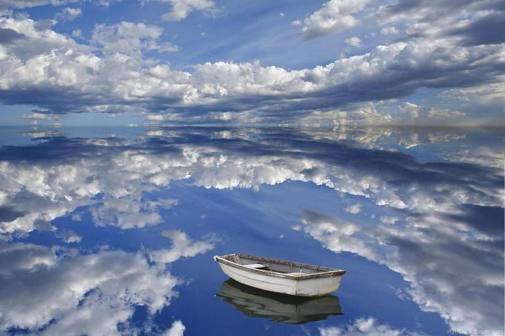 25. Зеркальная вода озера. интересное, фото