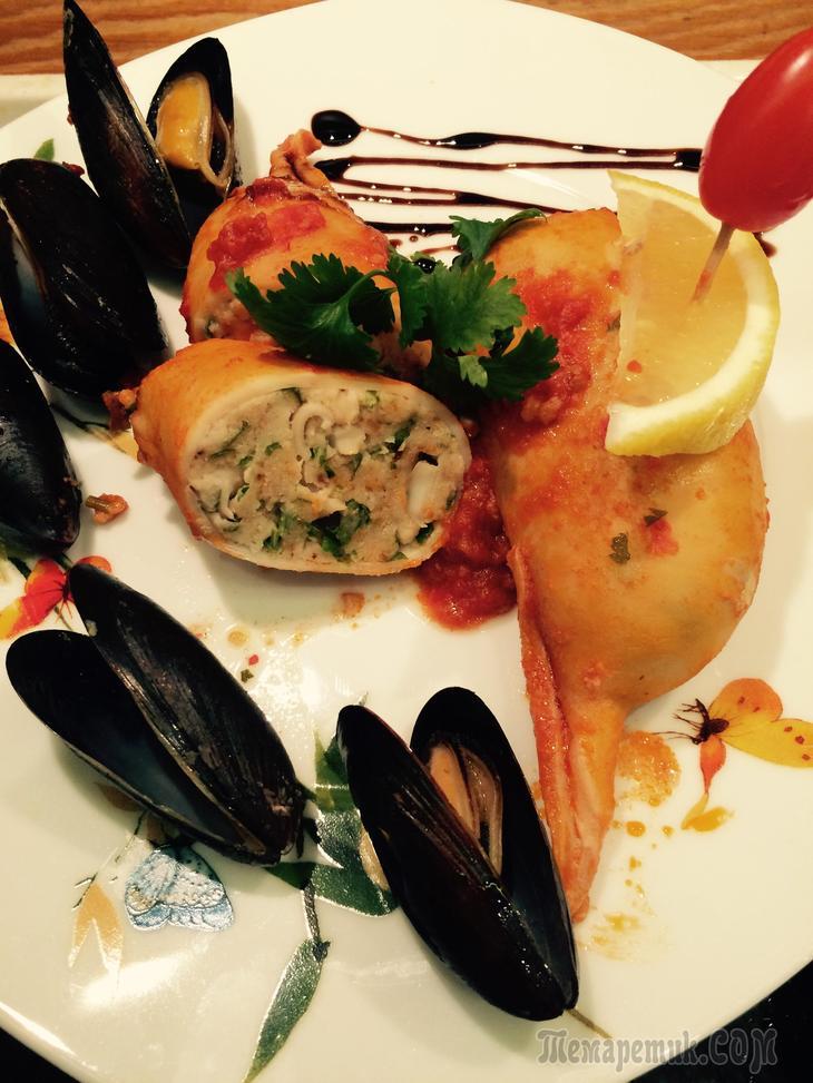 Кальмары фаршированные рыбой рецепты