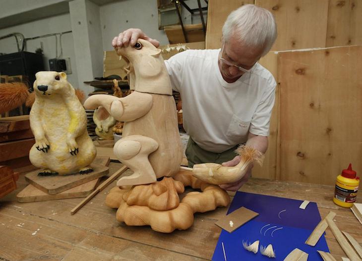 Realistic Siberian Wildlife 17 Скульптуры животных из стружки кедрового дерева