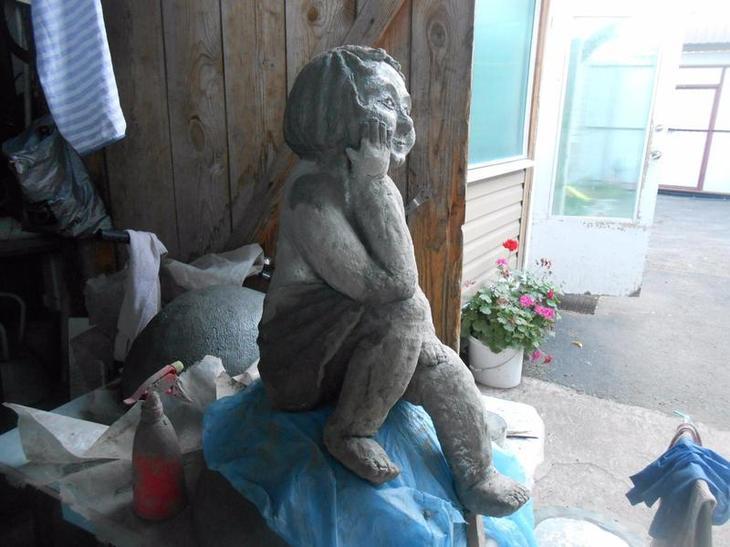 Скульптура из папье маше для сада своими руками 136