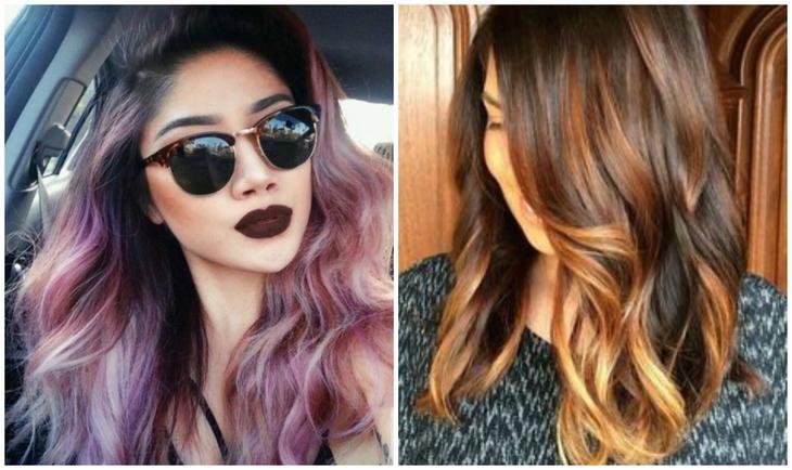Как покрасить кончики волос в домашних условиях гуашью