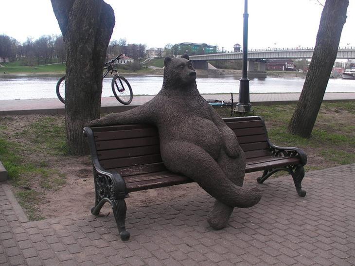 Интересные памятники и скульптуры медведей животные, история, медведи, памятники, скульптуры, факты