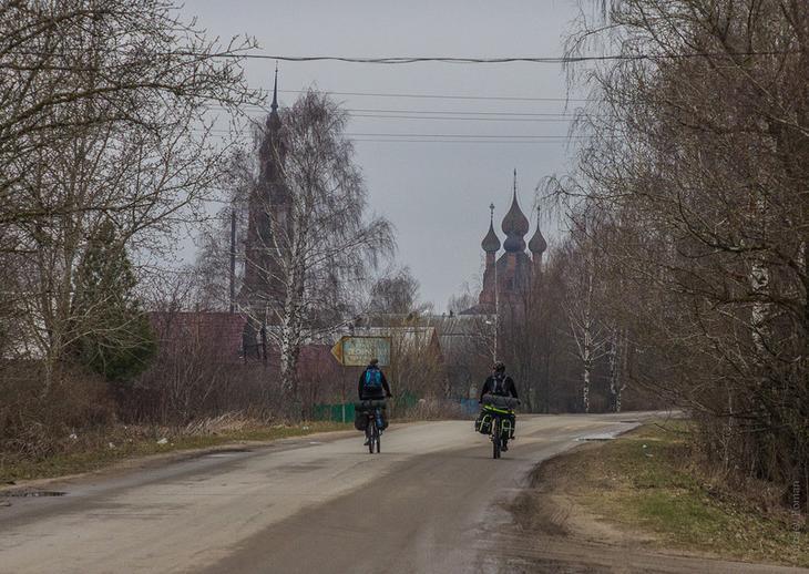 1. Въезд в село со стороны трассы М8 архитектура, велосипед, поход, путешествия, россия, храм