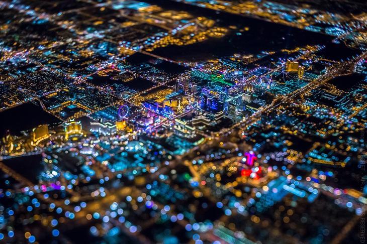 Ночной Лас-Вегас с высоты-2