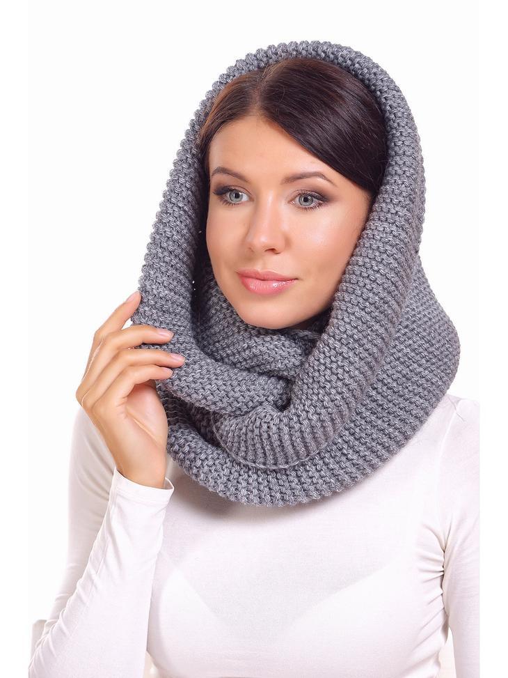 Как сделать шарф-капюшон