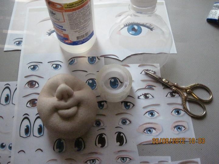 Как сделать кукле глаза