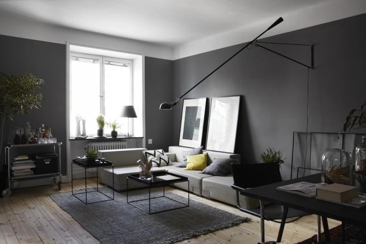 Wandfarben kontrast beispiele wohnzimmer