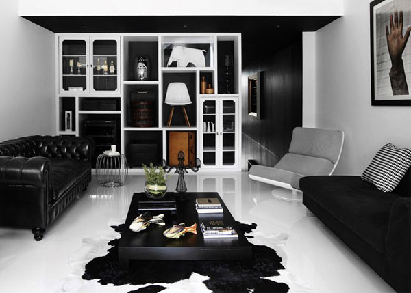 Черно-белая квартира