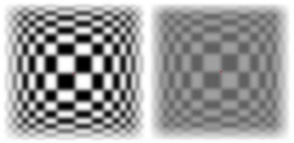 оптические иллюзии, эффект мерцания