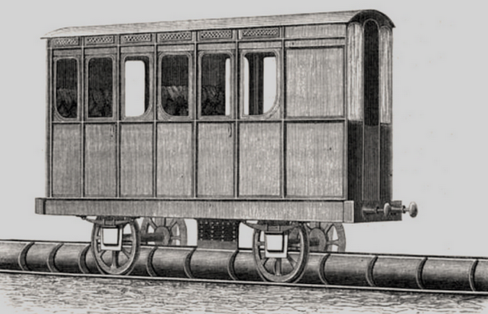 Пневматическая железная дорога.
