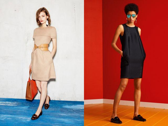 Модные деловые платья с карманами 2017