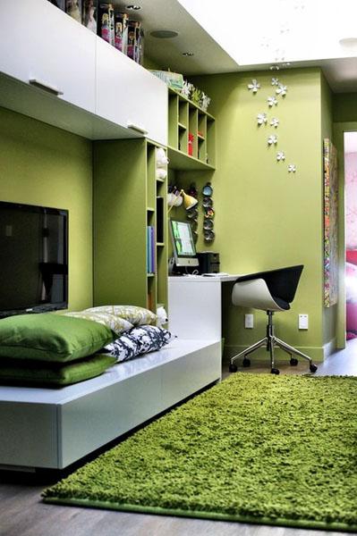 Зелёная спальня от Gaile Guevara