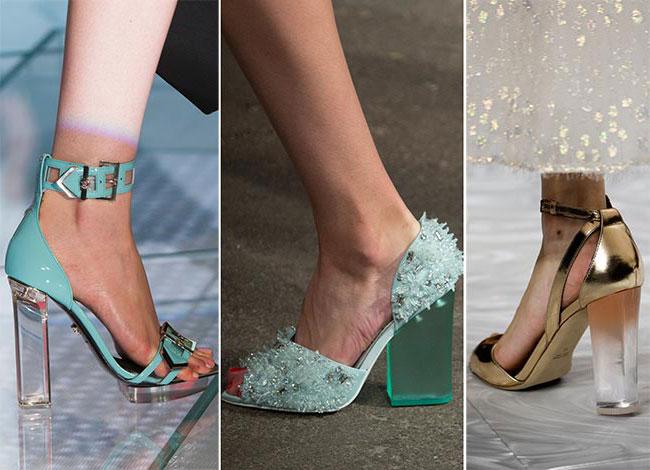 Прозрачные каблуки - тенденции весна-лето 2015