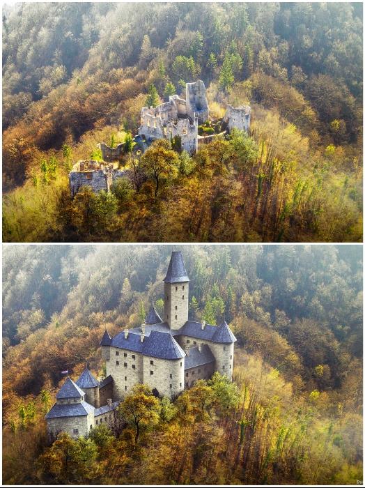 Развалины и цифровая реконструкция замка Самобор (Хорватия). | Фото: boredpanda.com/ © budgetdirect.