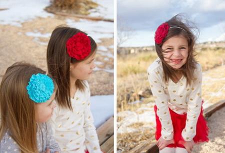 Как сделать детскую повязку с цветком из ткани