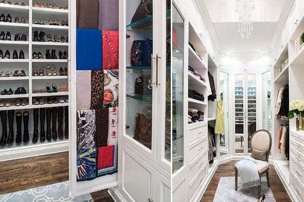 Встроенные вешалки-штанги от LA Closet Design