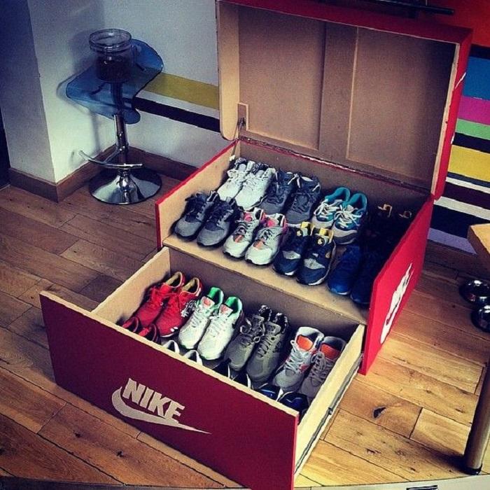Складная коробка для обуви Nike. / Фото: Pinterest.ru