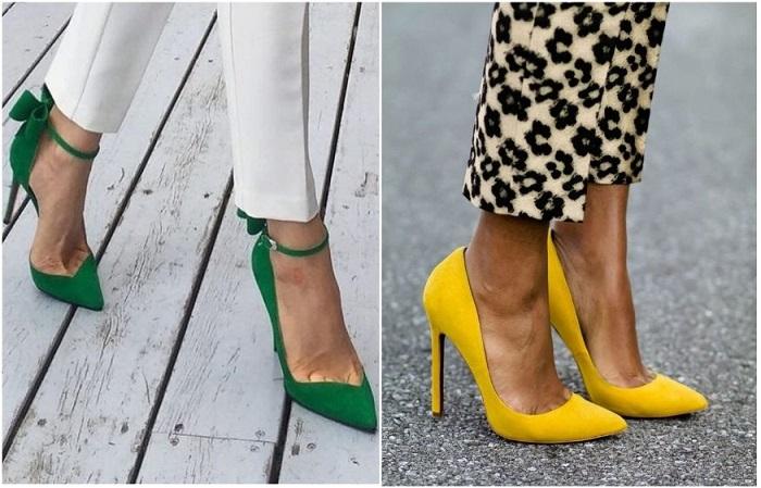 Цветные туфли - яркий акцент в образе