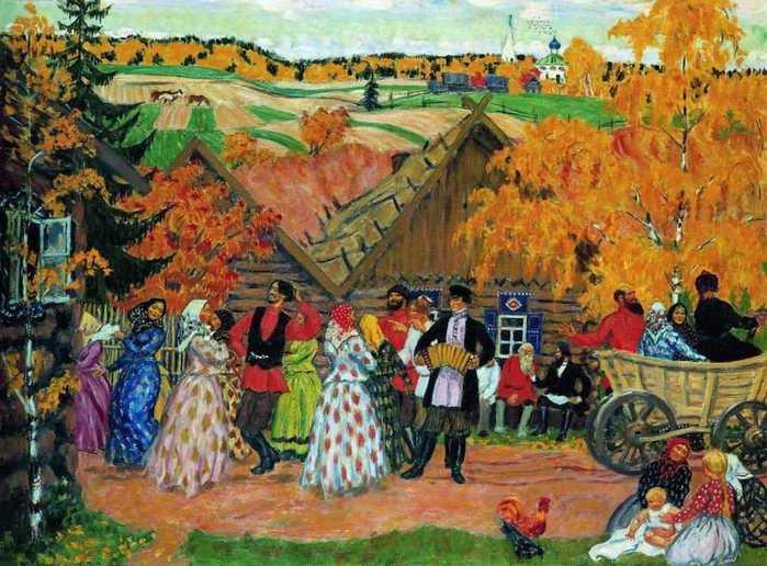 Борис Кустодиев. Деревенский праздник, 1914 г (699x516, 61Kb)