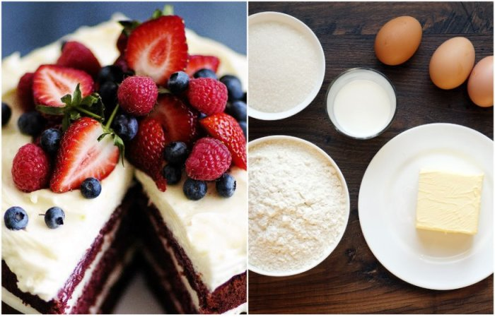В идеальном торте должно быть одинаковое количество яиц, муки, масла и сахара