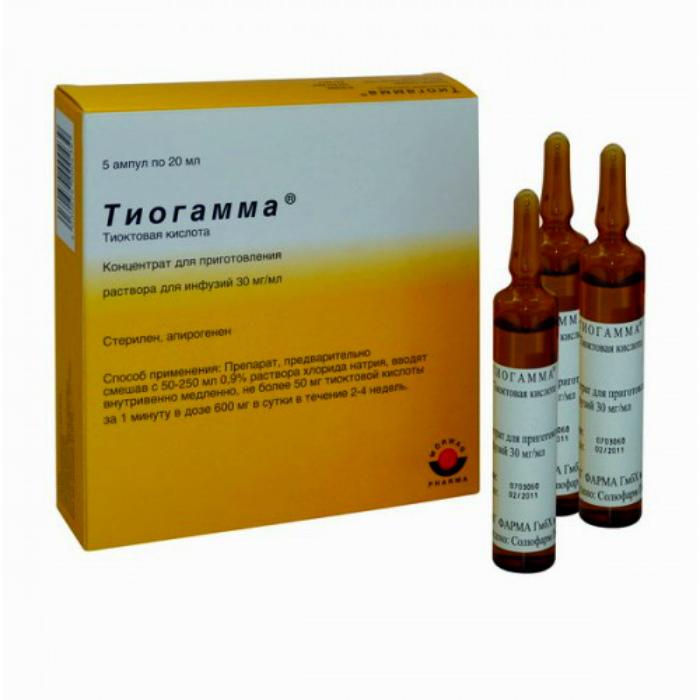 Тиогамма - раствор для инъекций.