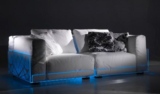 Оформление мебели с помощью светодиодных лент
