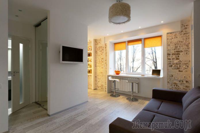 Дизайн компактной квартиры-студии 22 кв. м.