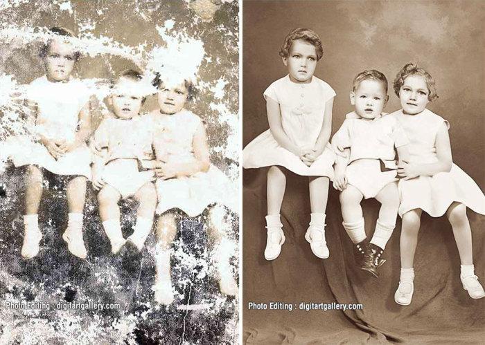 На таких фотографиях непросто узнать свою бабушку.