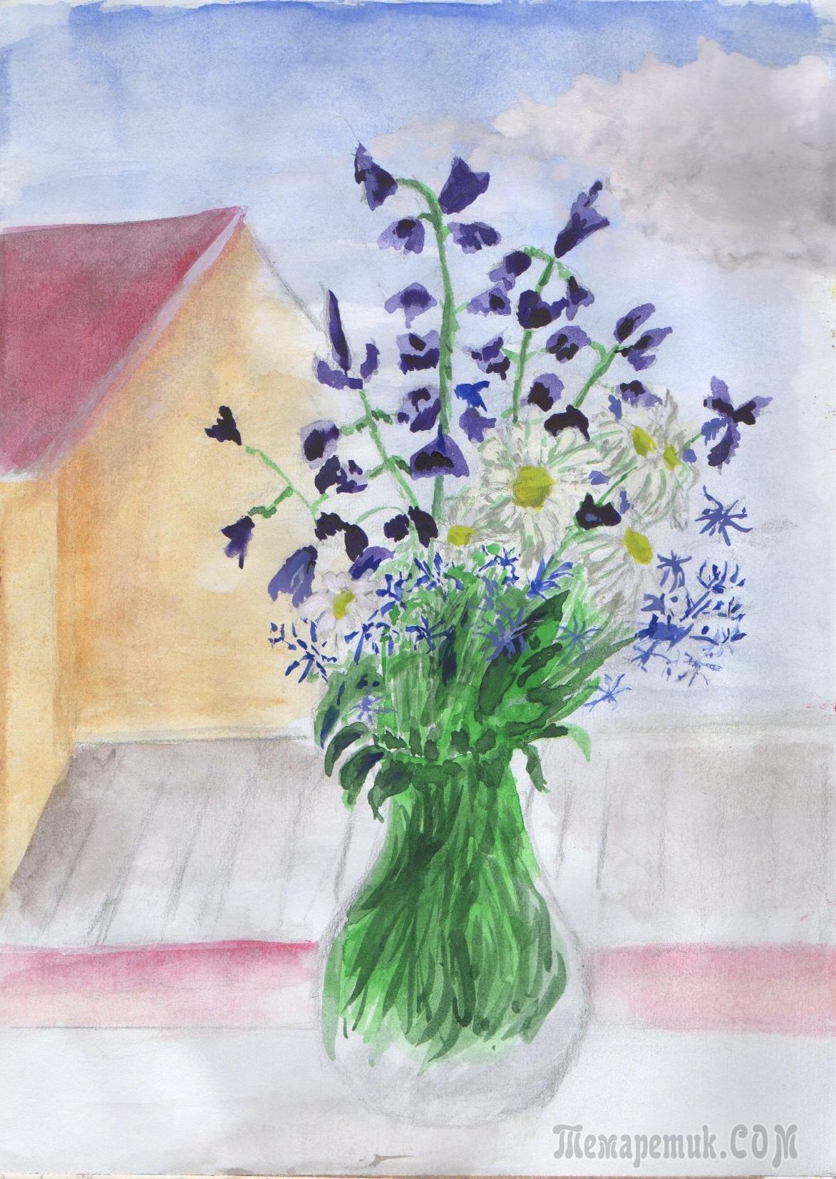 Мои рисунки. Цветы 2017 года