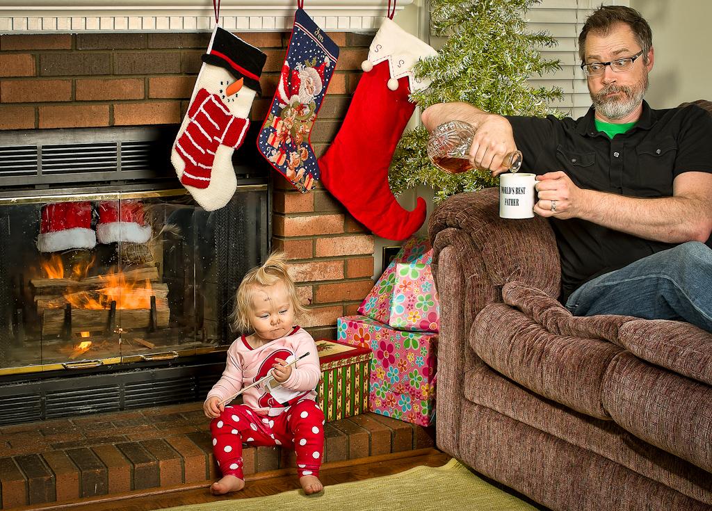 Для альбома, папа и дочка веселые картинки