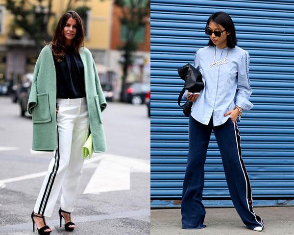 Уличная мода весна-лето 2015: Штаны с лампасами