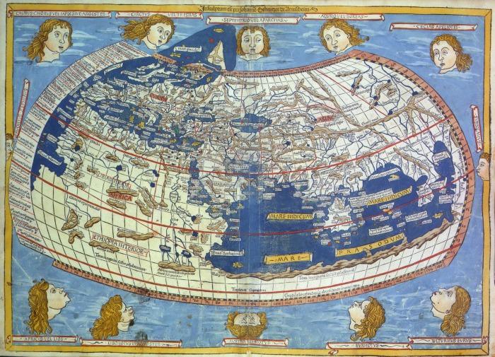 Карта мира 1482 года.