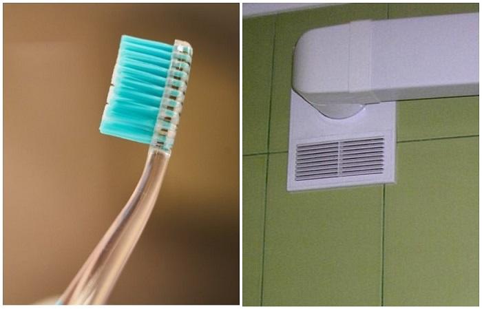 Чистить вентиляцию очень просто, если под рукой есть зубная щетка