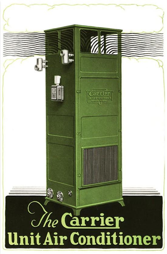 Кондиционер компании «Кэрриер», 1928 год. жара, история, кондиционер