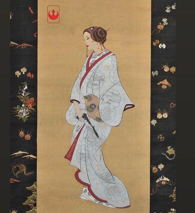 """Персонажи """"Звёздных войн"""" в стиле классического японского искусства (10 фото)"""