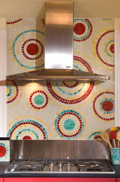 Мозаичная плитка в интерьере