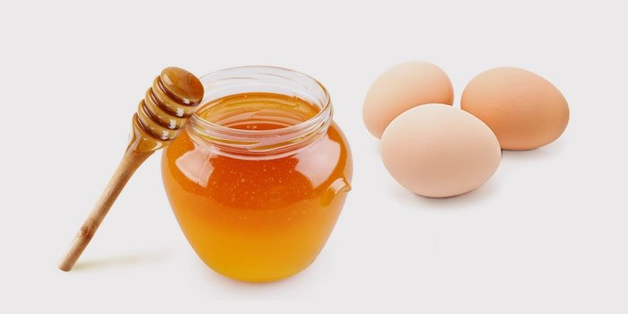 Маска с яйцом и медом