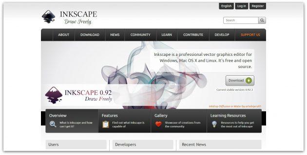 Бесплатные векторные редакторы: Inkscape