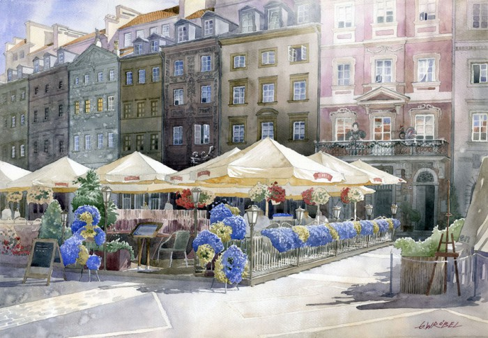 акварель пейзаж Grzegorz Wrobel -01