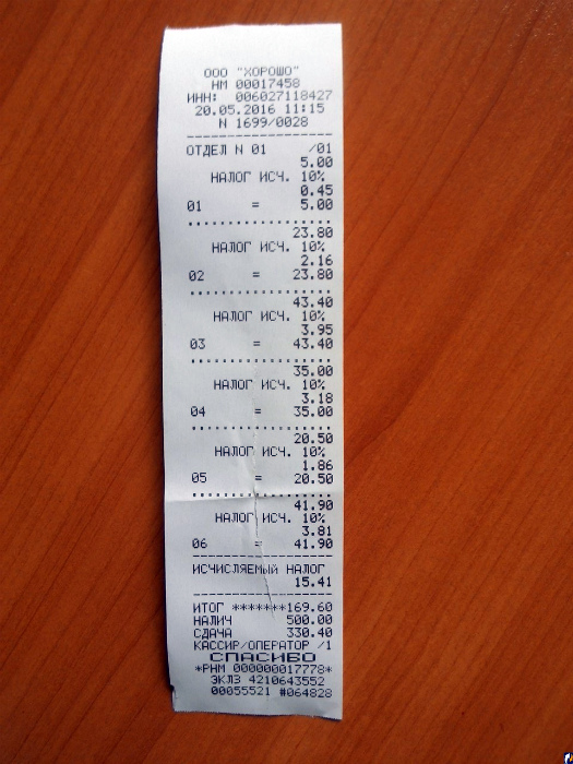 Цена на ценнике и чеке.