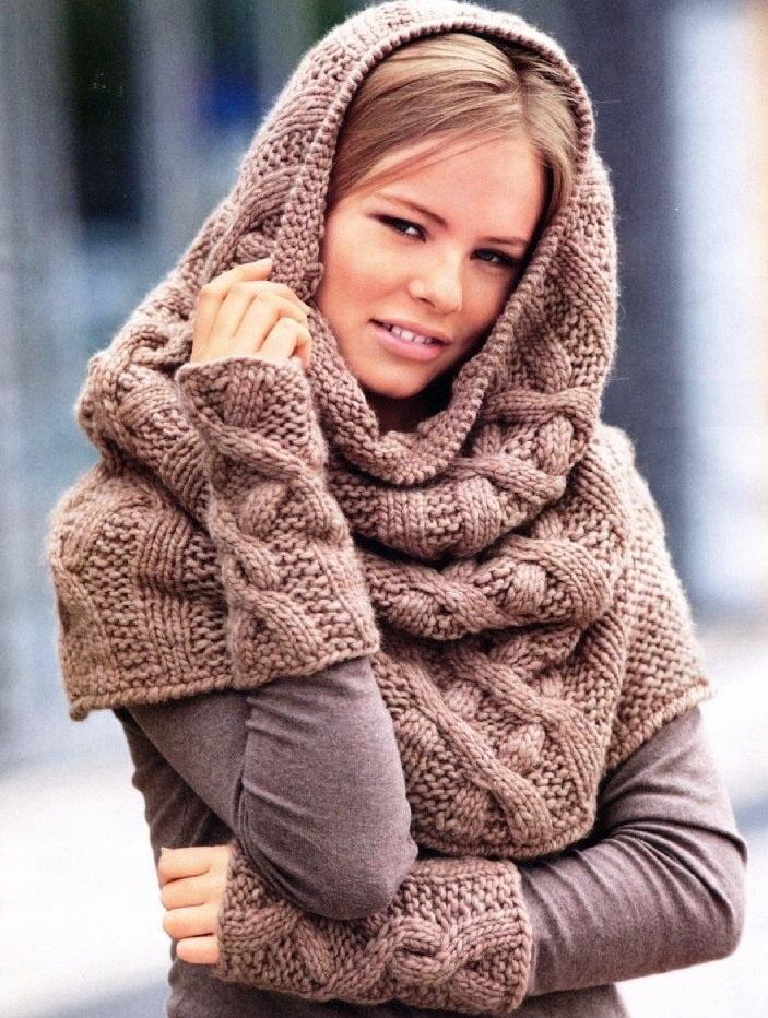 Шапка шарф труба женский на голову