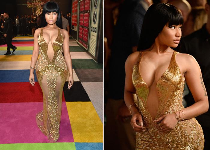 Порно золотое платье
